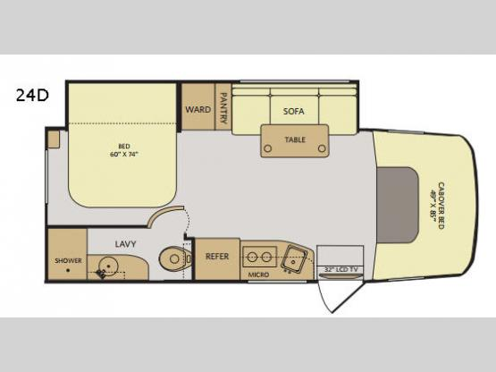 Pulse 24D Floorplan Image