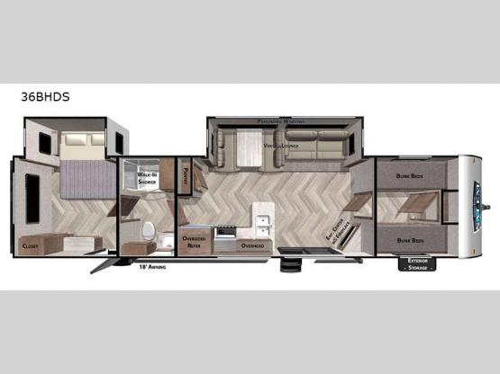 Salem 36BHDS Floorplan Image