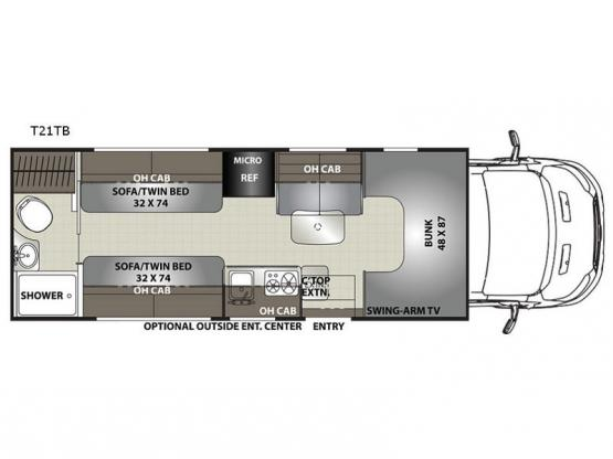 Orion LE T21TB Floorplan Image