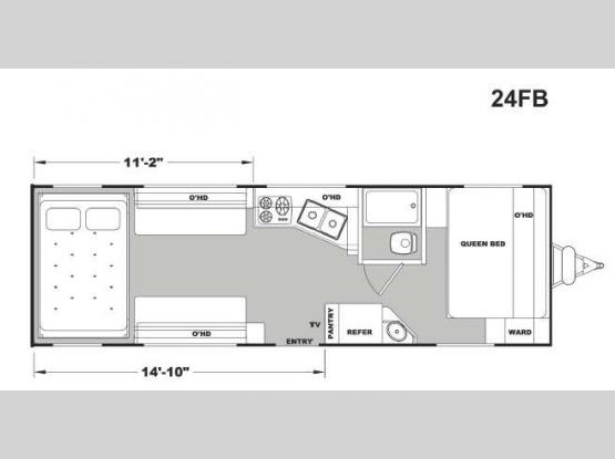 Stellar Metal 24FB Floorplan Image