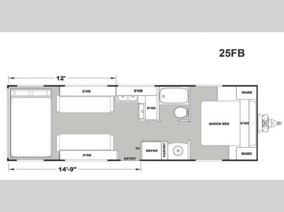 Stellar Metal 25FB Floorplan Image