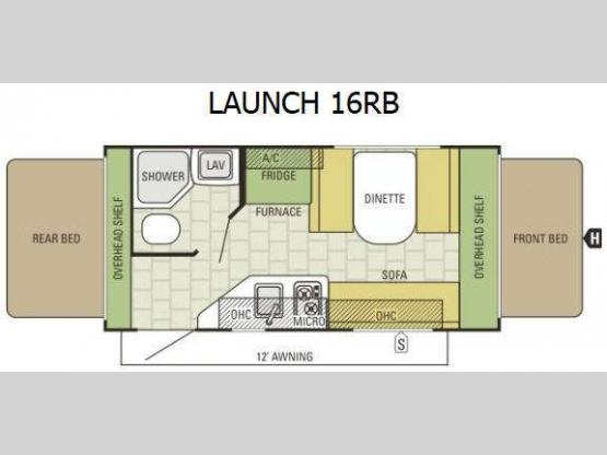 Launch 16RB Floorplan Image