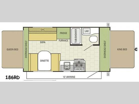 Travel Star 186RD Floorplan Image