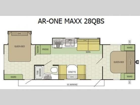 AR-ONE MAXX 28QBS Floorplan Image