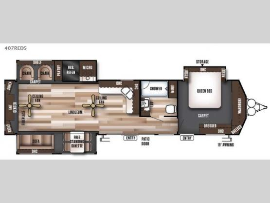 Wildwood Lodge 407REDS Floorplan Image