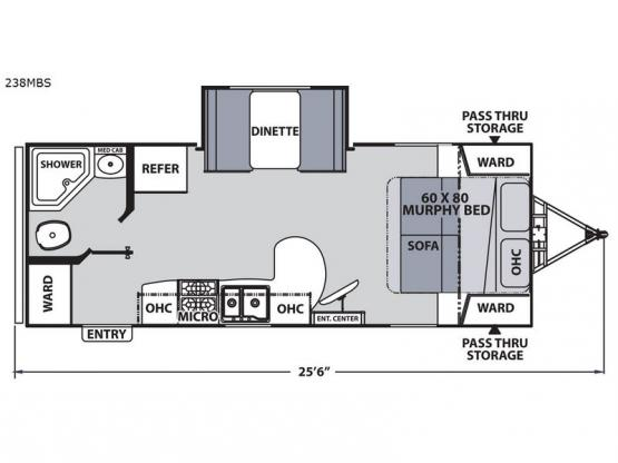 Apex Ultra-Lite 238MBS Floorplan Image