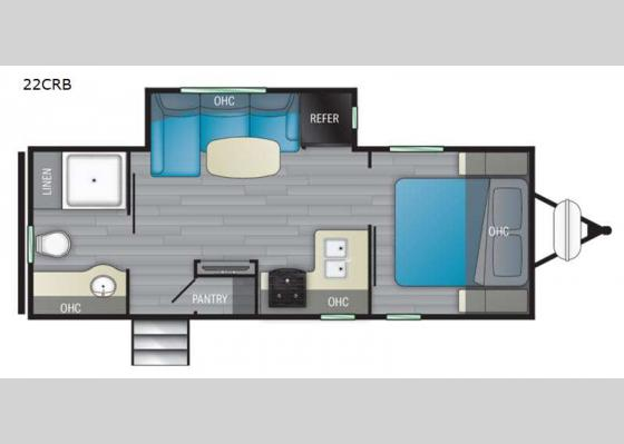Floorplan - 2021 North Trail 22CRB Travel Trailer