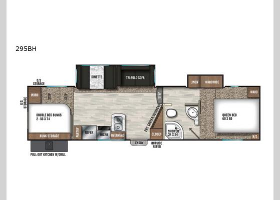 Floorplan - 2020 Chaparral Lite 295BH Fifth Wheel