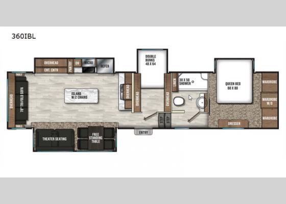 Floorplan - 2020 Chaparral 360IBL Fifth Wheel