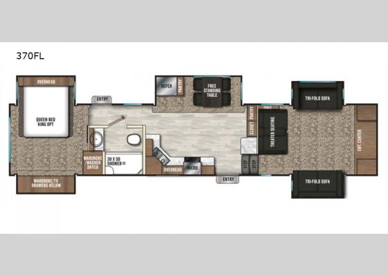 Floorplan - 2020 Chaparral 370FL Fifth Wheel
