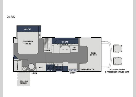 Floorplan - 2020 Freelander 21RS Chevy 4500 Motor Home Class C