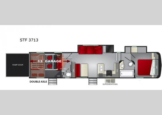 Floorplan - 2020 Stryker STF-3713 Toy Hauler Fifth Wheel