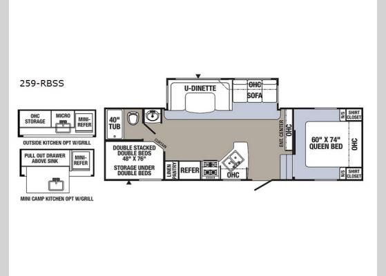 Floorplan - 2018 Puma 259-RBSS Fifth Wheel