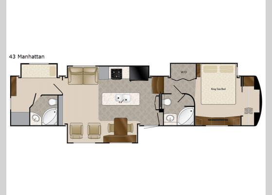 Floorplan - 2018 Elite Suites 43 Manhattan Fifth Wheel