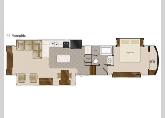 Floorplan - 2018 Elite Suites 44 Memphis Fifth Wheel