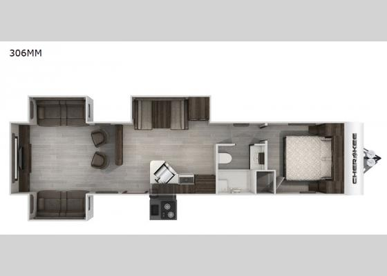 Floorplan - 2021 Cherokee 306MM Travel Trailer