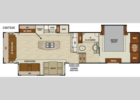 Floorplan - 2018 Chaparral 336TSIK Fifth Wheel