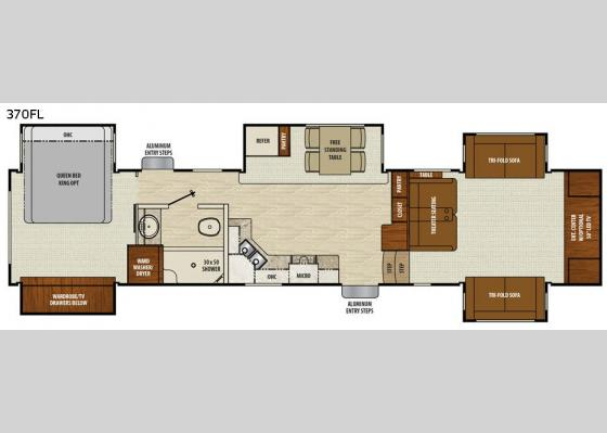 Floorplan - 2018 Chaparral 370FL Fifth Wheel