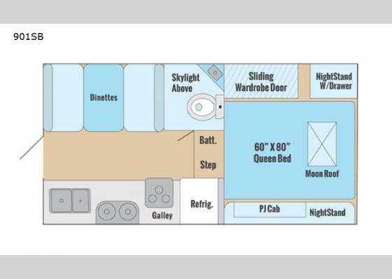 Floorplan - 2020 Adventurer 901SB Truck Camper