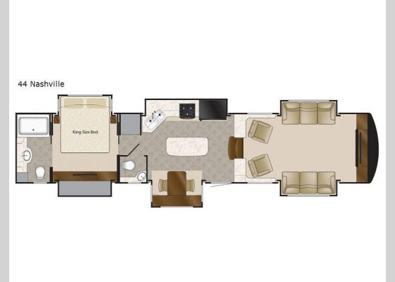 Floorplan - 2020 Elite Suites 44 Nashville Fifth Wheel