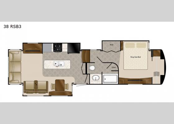 Floorplan - 2020 Mobile Suites 38 RSB3 Fifth Wheel