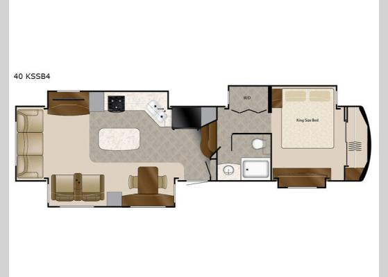 Floorplan - 2020 Mobile Suites 40 KSSB4 Fifth Wheel