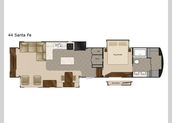 Floorplan - 2020 Mobile Suites 44 Sante Fe Fifth Wheel