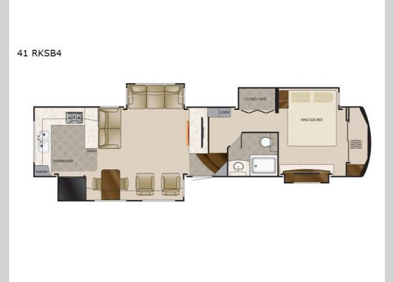 Floorplan - 2020 Mobile Suites 41 RKSB4 Fifth Wheel