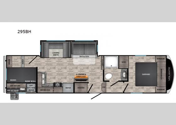 Floorplan - 2021 Volante 295BH Fifth Wheel