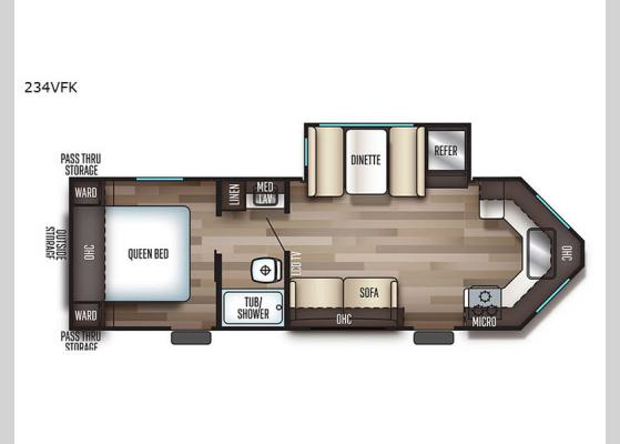 Floorplan - 2020 Cherokee 234VFK Travel Trailer