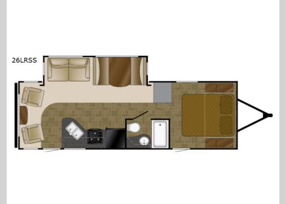 Floorplan - 2018 North Trail 26LRSS King Travel Trailer