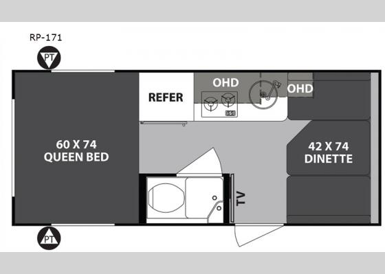 Floorplan - 2020 R Pod RP-171 Travel Trailer