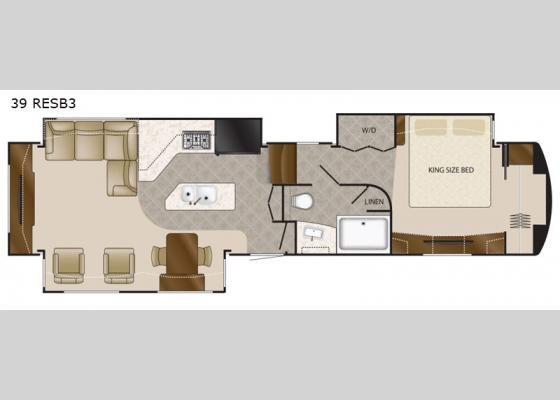 Floorplan - 2021 Elite Suites 39 RESB3 Fifth Wheel