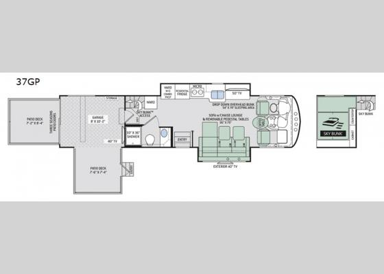 Floorplan - 2020 Outlaw 37GP Motor Home Class A - Toy Hauler