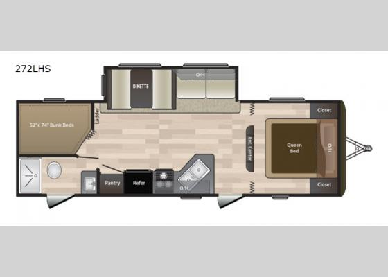 Floorplan - 2019 Hideout 272LHS Travel Trailer