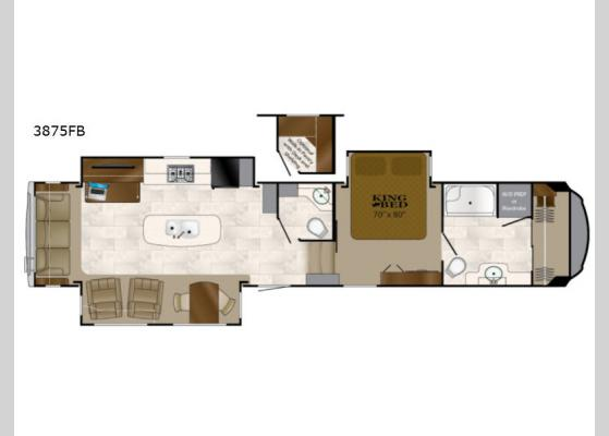 Floorplan - 2018 Bighorn 3875FB Fifth Wheel