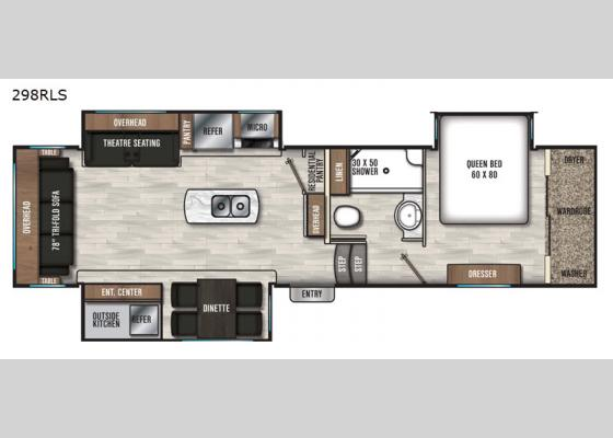 Floorplan - 2021 Chaparral 298RLS Fifth Wheel