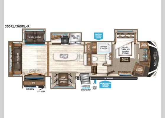 Floorplan - 2018 Solitude 360RL Fifth Wheel