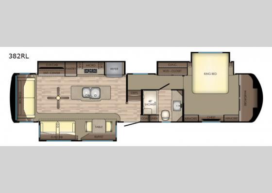 Floorplan - 2019 Redwood 382RL Fifth Wheel