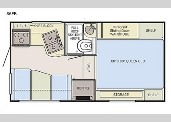 Floorplan - 2020 Adventurer 86FB Truck Camper