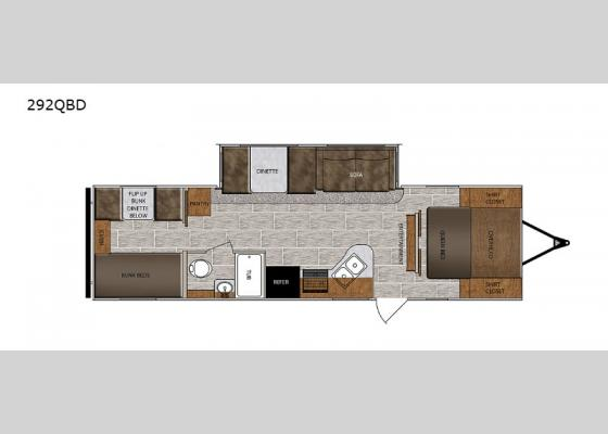 Floorplan - 2020 Wildcat 292QBD Travel Trailer