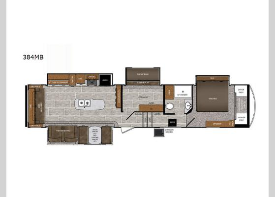 Floorplan - 2020 Wildcat 384MB Fifth Wheel