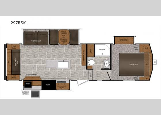 Floorplan - 2020 Crusader 297RSK Fifth Wheel