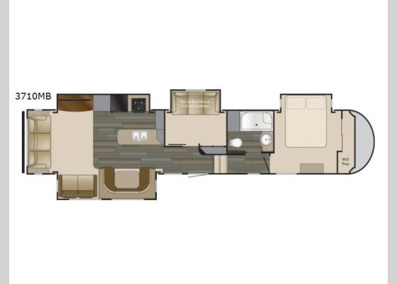 Floorplan - 2019 Sundance 3710MB Fifth Wheel