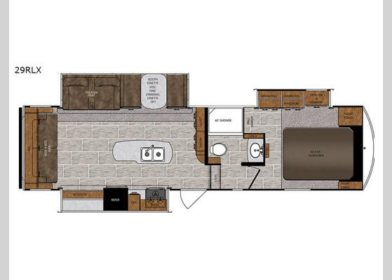 Floorplan - 2019 Wildcat 29RLX Fifth Wheel