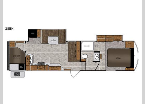 Floorplan - 2019 Wildcat 28BH Fifth Wheel