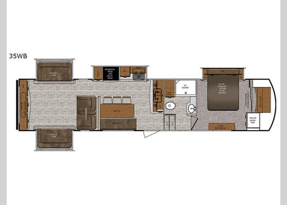 Floorplan - 2019 Wildcat 35WB Fifth Wheel