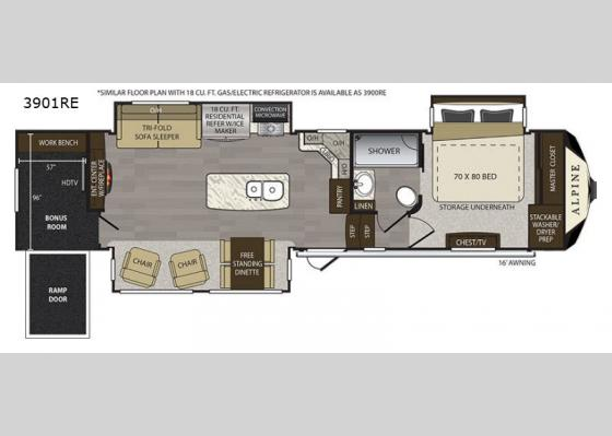 Floorplan Re Fifth Wheel