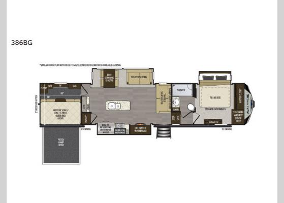 Floorplan - 2020 Avalanche 386BG Fifth Wheel