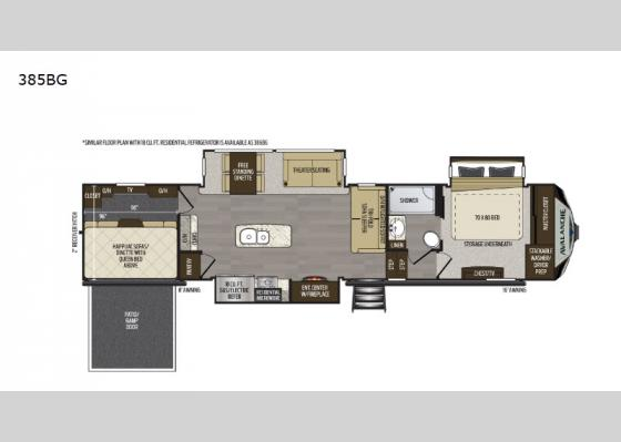 Floorplan - 2020 Avalanche 385BG Fifth Wheel
